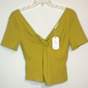 Love riche twist tie front and back top size sm
